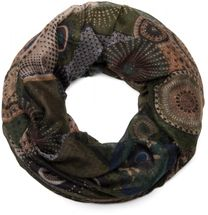 styleBREAKER glittering ethno design tube scarf with colourful circles, dots and glitter, ladies 01018085 – Bild 4