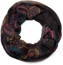 styleBREAKER glittering ethno design tube scarf with colourful circles, dots and glitter, ladies 01018085 – Bild 5