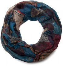 styleBREAKER glittering ethno design tube scarf with colourful circles, dots and glitter, ladies 01018085 – Bild 7