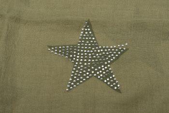 styleBREAKER Loop Schal mit Sterne Muster und edler Strass Applikation, Schlauchschal, Tuch, Damen 01018086 – Bild 38