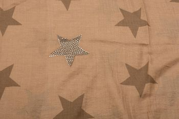 styleBREAKER Loop Schal mit Sterne Muster und edler Strass Applikation, Schlauchschal, Tuch, Damen 01018086 – Bild 42