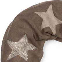styleBREAKER Loop Schal mit Sterne Muster und edler Strass Applikation, Schlauchschal, Tuch, Damen 01018086 – Bild 48