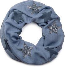 styleBREAKER Loop Schal mit Sterne Muster und edler Strass Applikation, Schlauchschal, Tuch, Damen 01018086 – Bild 11