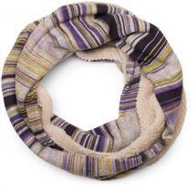 styleBREAKER striped fine knit tube scarf with soft and cuddly teddy fur, unisex 01018091 – Bild 1
