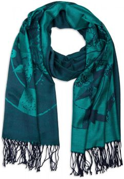 styleBREAKER elegant fringed scarf with maritime anchor and compass pattern, unisex 01018094  – Bild 25