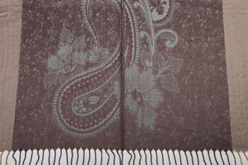styleBREAKER edler Schal mit Blumen, Paisley, Ornament Muster und Fransen, Stola, Damen 01018095 – Bild 19