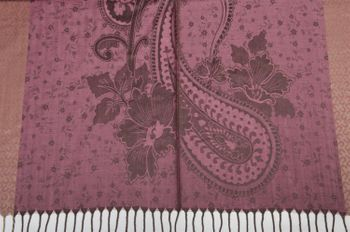 styleBREAKER edler Schal mit Blumen, Paisley, Ornament Muster und Fransen, Stola, Damen 01018095 – Bild 20