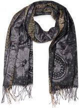styleBREAKER edler Schal mit Blumen, Paisley, Ornament Muster und Fransen, Stola, Damen 01018095 – Bild 1