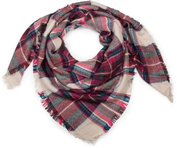 styleBREAKER square XXL scarf, wrap scarf with Scottish Tartan plaid pattern, unisex 01018136 – Bild 8