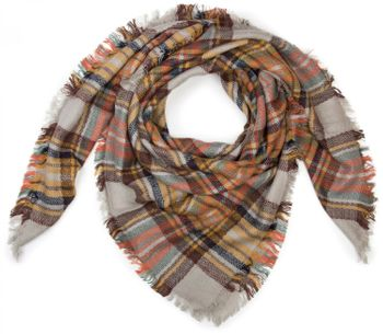 styleBREAKER square XXL scarf, wrap scarf with Scottish Tartan plaid pattern, unisex 01018136 – Bild 10