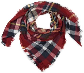 styleBREAKER square XXL scarf, wrap scarf with Scottish Tartan plaid pattern, unisex 01018136 – Bild 21