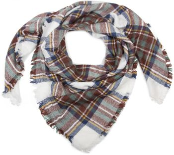 styleBREAKER square XXL scarf, wrap scarf with Scottish Tartan plaid pattern, unisex 01018136 – Bild 5