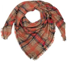 styleBREAKER square XXL scarf, wrap scarf with Scottish Tartan plaid pattern, unisex 01018136 – Bild 4