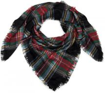 styleBREAKER square XXL scarf, wrap scarf with Scottish Tartan plaid pattern, unisex 01018136 – Bild 2