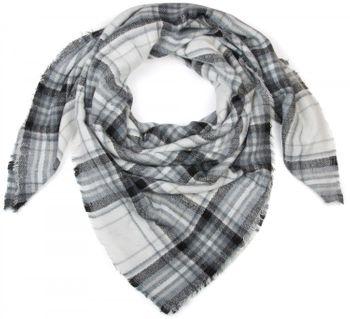 styleBREAKER quadratischer XXL Schal, großer Deckenschal mit Tartan Plaid Karo Muster und Fransen, Unisex 01018137 – Bild 4