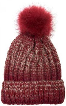 styleBREAKER Bommelmütze mit Feinstrick Zöpfchen Muster und Kunstfellbommel, Winter Strickmütze, Unisex 04024060 – Bild 7