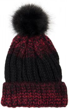 styleBREAKER bobble hat with fine knit plait pattern and faux fur bobble, winter knitted hat, unisex 04024060 – Bild 4