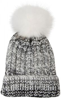 styleBREAKER bobble hat with fine knit plait pattern and faux fur bobble, winter knitted hat, unisex 04024060 – Bild 5