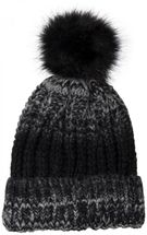 styleBREAKER bobble hat with fine knit plait pattern and faux fur bobble, winter knitted hat, unisex 04024060 – Bild 2
