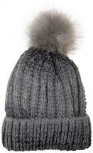 styleBREAKER Bommelmütze mit Feinstrick Zöpfchen Muster und Kunstfellbommel, Winter Strickmütze, Unisex 04024060 – Bild 3
