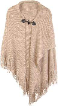 styleBREAKER knitted poncho with toggle button closure, fringed, drape coat, ladies 08010005 – Bild 5