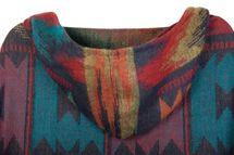 styleBREAKER aztec ethno style poncho with hood and toggle button closure, drape coat cape, ladies 08010006 – Bild 7