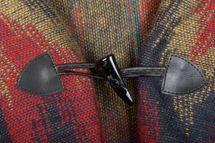 styleBREAKER aztec ethno style poncho with hood and toggle button closure, drape coat cape, ladies 08010006 – Bild 6