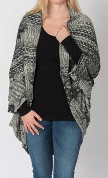 styleBREAKER animal print look cardigan / scarf, crocodile snake design, multifunctional, ladies 08010007  – Bild 4