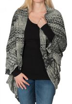 styleBREAKER animal print look cardigan / scarf, crocodile snake design, multifunctional, ladies 08010007  – Bild 2