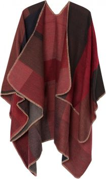 styleBREAKER rectangular pattern poncho, drape coat, plaid, reversible poncho, patchwork design, ladies 08010008 – Bild 16