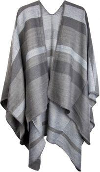 styleBREAKER Poncho mit Streifen Muster, Überwurf Cape, Wendeponcho, Damen 08010009 – Bild 4