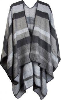 styleBREAKER Poncho mit Streifen Muster, Überwurf Cape, Wendeponcho, Damen 08010009 – Bild 5