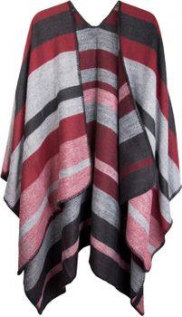 styleBREAKER striped pattern poncho, drape coat, reversible poncho, ladies 08010009  – Bild 2