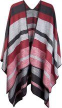 styleBREAKER striped pattern poncho, drape coat, reversible poncho, ladies 08010009  – Bild 1