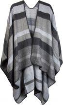 styleBREAKER striped pattern poncho, drape coat, reversible poncho, ladies 08010009  – Bild 5