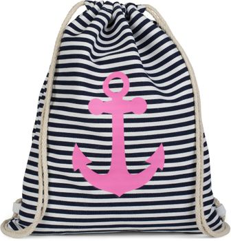 styleBREAKER maritime design gym backpack with stripes and anchor print, sports bag, unisex 02012052 – Bild 18