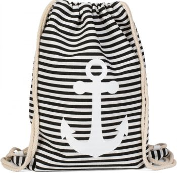styleBREAKER maritime design gym backpack with stripes and anchor print, sports bag, unisex 02012052 – Bild 10