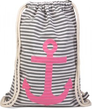 styleBREAKER maritime design gym backpack with stripes and anchor print, sports bag, unisex 02012052 – Bild 5