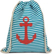 styleBREAKER maritime design gym backpack with stripes and anchor print, sports bag, unisex 02012052 – Bild 14