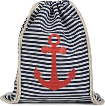 styleBREAKER maritime design gym backpack with stripes and anchor print, sports bag, unisex 02012052 – Bild 16