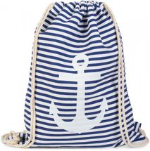 styleBREAKER maritime design gym backpack with stripes and anchor print, sports bag, unisex 02012052 – Bild 11