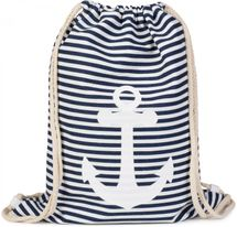 styleBREAKER maritime design gym backpack with stripes and anchor print, sports bag, unisex 02012052 – Bild 9