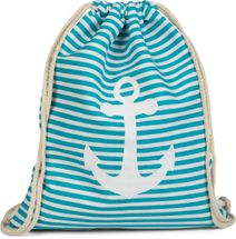 styleBREAKER maritime design gym backpack with stripes and anchor print, sports bag, unisex 02012052 – Bild 12