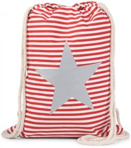 styleBREAKER maritime design gym backpack with stripes and start print, sports bag, unisex 02012053 – Bild 5