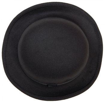 styleBREAKER melon hat, narrow brim felt hat with black ribbon, bowler hat, unisex 04025006 – Bild 9