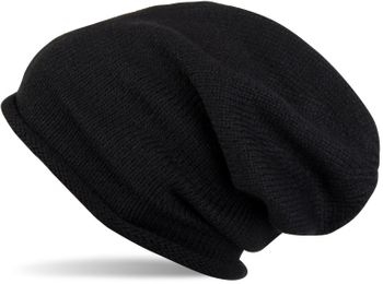styleBREAKER warming fine knit slouch beanie, uni-coloured, knitted beanie with rolled cuff, winter beanie, unisex 04024063 – Bild 3
