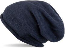 styleBREAKER warme Feinstrick Beanie Mütze in Unifarben, Strickmütze mit Rollrand, Wintermütze, Unisex 04024063 – Bild 1