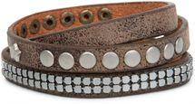 styleBREAKER Vintage Wickelarmband mit Nieten und Sternniete, Armband, Unisex 05040030 – Bild 3