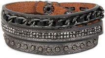 styleBREAKER Vintage Wickelarmband mit Nieten, Kette und Glitzersteine, Armband, Unisex 05040031 – Bild 2