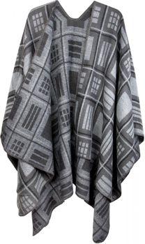 styleBREAKER Poncho mit quadratischem Rechteck Karo Muster, Umhang, Überwurf Cape, Wendeponcho, Damen 08010015 – Bild 11